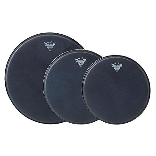 Remo Emperor Black Suede Drumhead Pack