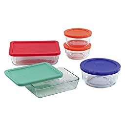 PYREX 10-pc Storage Set w/ Plastic Covers