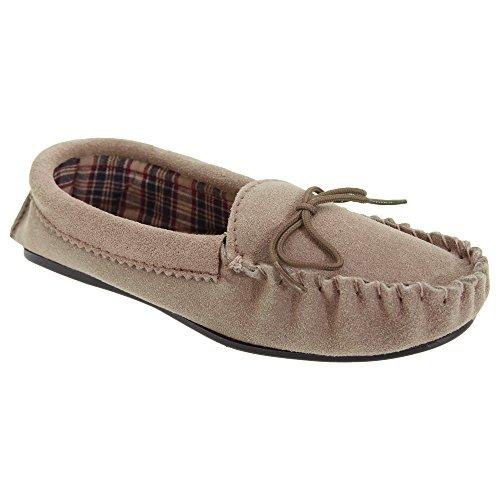 Mokkers - Zapatillas de estar por casa modelo Amanda estilo mocasín para mujerq Púrpura