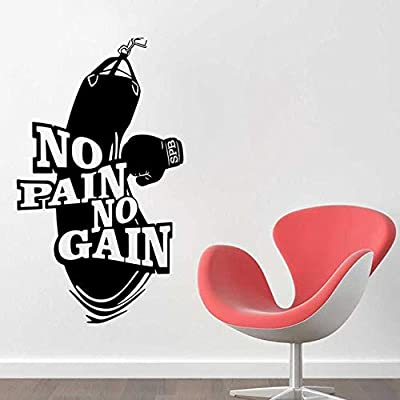 zqyjhkou No Pain No Gain Vinilo Tatuajes de Pared Decoración del ...