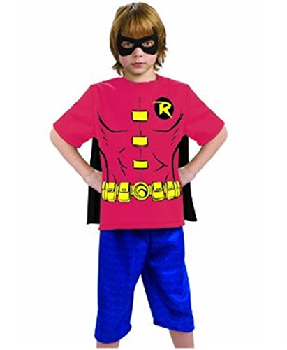 Justice League Child's Robin 100% Cotton T-Shirt - Small -