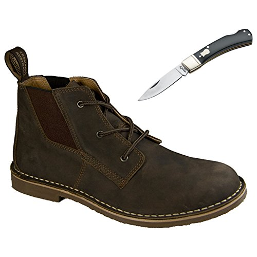 Blundstone Mens Casual Series Boot 268 Rustic Brown – With Free Pocket Knife