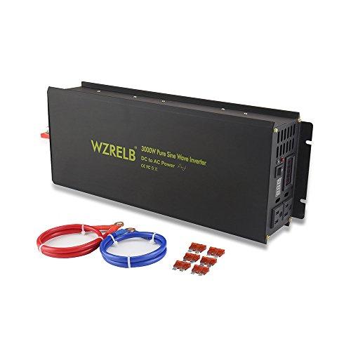 (WZRELB 3000W Pure Sine Wave Solar Power Inverter Generator 24V DC to 120V AC Converter Car Inverter)