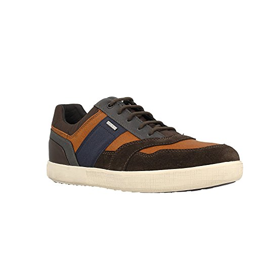 Geox Men's Leather Taiki B ABX Trainers UK 9 Brown ()