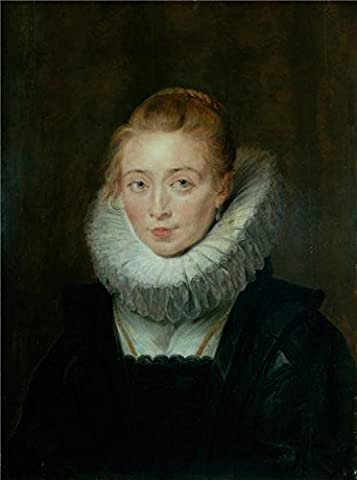 Oil Painting 'Portrait Of Lady-in-Waiting To The Infanta Isabella,1620s By Peter Paul Rubens' 30 x 40 inch / 76 x 102 cm , on High Definition HD canvas prints, Bath Room, Kitchen And Living Ro - Log Seven Drawer Dresser