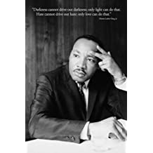 Martin Luther King Jr. (Darkness Quote) Art Poster Print - 24x36