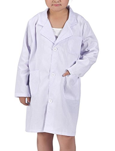 AOVCLKID Kids Laboratory White Coat For Scientist and Doctors Role Play Costume - Costume Scientist