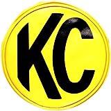 "KC HiLiTES 5101 6"" Round Yellow Vinyl Light Cover w/ Black KC Logo - Set of 2"