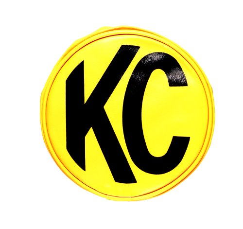 KC HiLiTES 5101 6'' Round Yellow Vinyl Light Cover w/Black KC Logo - Set of 2 by KC HiLiTES