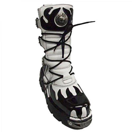 New Rock Laarzen M.591-c7 Gothic Hardrock Punk Unisex Stiefel Weiß