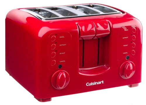Cuisinart CPT-140R Electronic Cool Touch 4-Slice Toaster, Red
