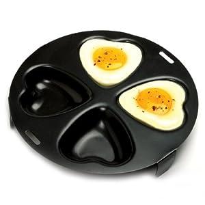 Amazon.com: Norpro 661 Nonstick Heart Egg Poacher: Egg Pan ...