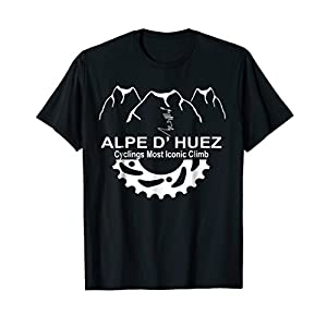 France Alpe D' Huez Climb Novelty Cycling Gift T Shirt