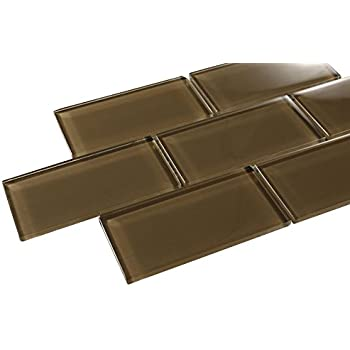 kitchen backsplash glass tile brown. Glossy Brown Subway Glass Mosaic Tiles for Bathroom and Kitchen Walls  Backsplashes By Vogue Tile Chocolate 3x6 Coffee