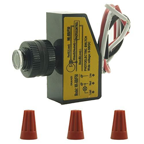 Outdoor Hard-Wired Post Eye Light Control with Photocell Light Sensor ?Automatic LED Light Sensor Switch Outdoor Dusk to Dawn Photocell Switch 12V 24V 36V 48V DC