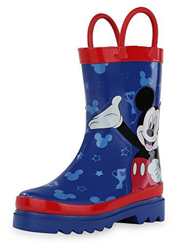 Disney Mickey Mouse Blue and Red Rain Boots - Size 7 Toddler