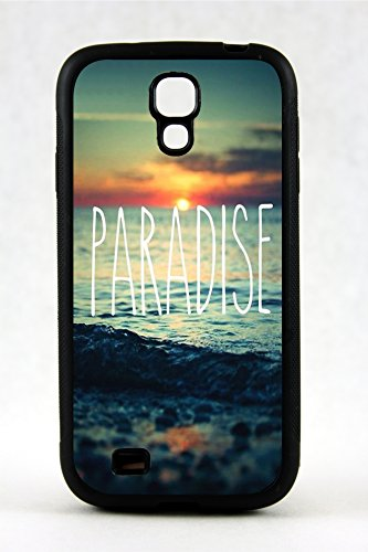 Samsung Galaxy S4 Beautiful Paradise Beach Photo Rubber Case Cover