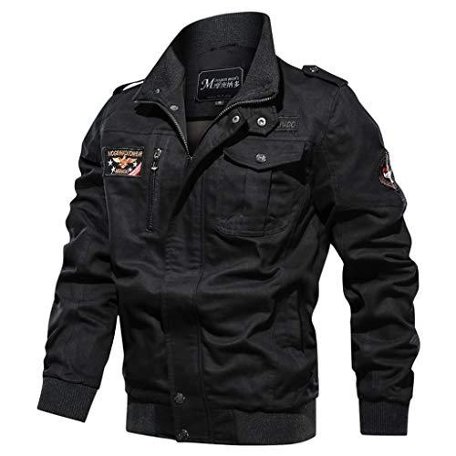 Hiver 1220 Longues Blouson Bomber noir Hoodie Aviateur Zip Épais Flight Veste Capuche Homme Manches Bazhahei À Manteau Jacket 6FqHHva