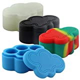 25ml Multi-Chamber Cloud Shaped Hot/Cold Resistant Assorted Color Silicone Jar (50 Jars)
