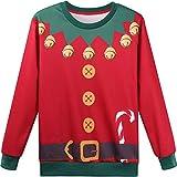 Hsctek Elf Christmas Sweater, Boys Girls Ugly