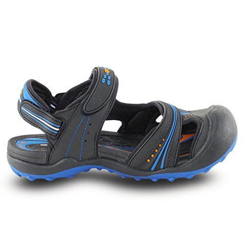 Gold Pigeon Shoes GP5937 Men Women Snap Lock Sports Water Shoes Sandals: Easy Magnetic Closure 7668 Black Blue D2Oh9