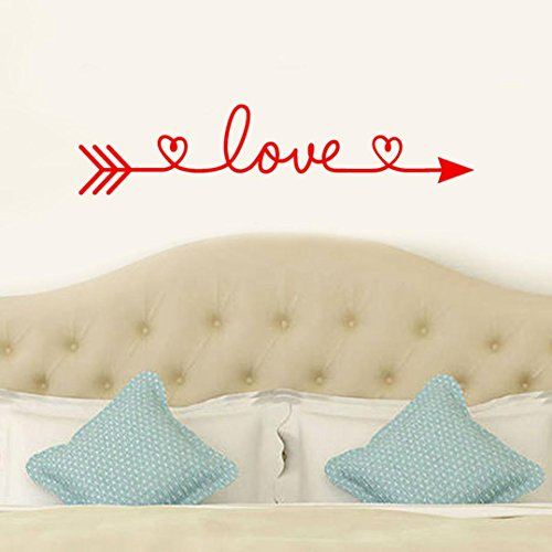 Iuhan® Love Arrow Wall Stickers, Removable Love Arrow Art Vinyl Mural Home Room Decor Wall Stickers (Red) by Iuhan® (Image #2)