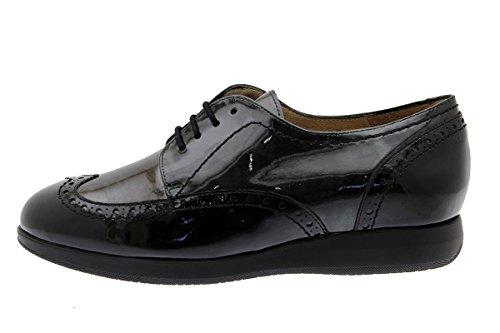 Amples À Chaussure 175630 Femme Piesanto Confort black Confortables Lacets Negro Cuir En WqYz6CwY