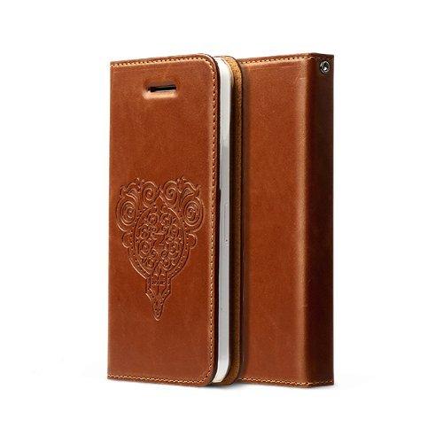 Zenus Retro Z Diary Case/Tasche Braun für Apple iPhone 5C