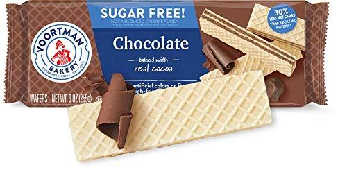 Voortman Bakery Sugar Free Wafer Cookies, Pack of 4 (Sugar Free - Chocolate Sugar Cookies Free