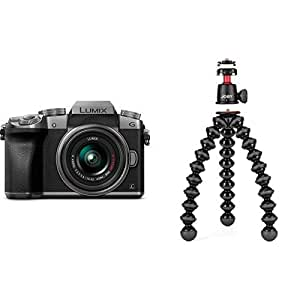 PANASONIC LUMIX G7 4K Mirrorless Camera with JOBY GorillaPod 3K Kit - Black/Charcoal