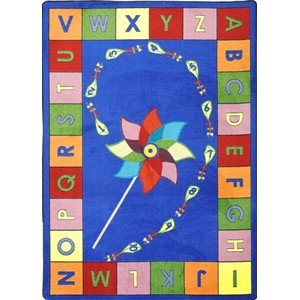 Educational Alphabet Pinwheel Kids Rug Rug Size: 7'8'' x 10'9''