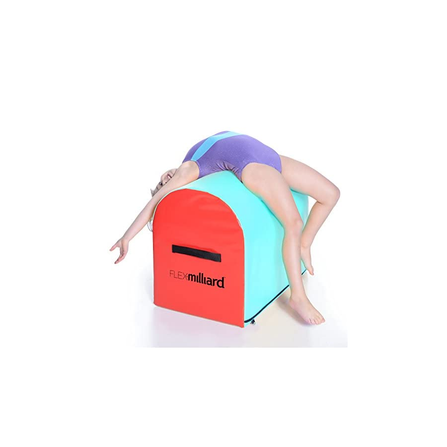 Milliard Gymnastics Mailbox Tumbling Aid Trainer, Spotting Equipment, 24x16x19.5 inches Blue/Red