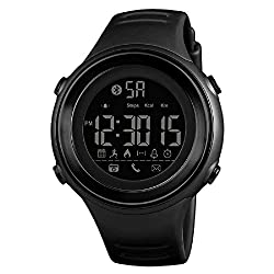 Fitness Tracker Smart Watch Activity Tracker Digital Sports Watches Waterproof Bluetooth Wristwatch with Pedometer Calorie Step Counter Alarm Clock Remote Camera APP Reminder (Black)