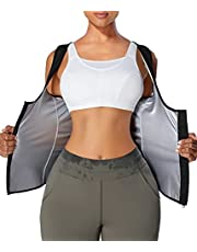 WANFISTO Sauna Suit for Women Waist Trainer Sweat Vest with Zipper for Workout