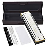 Eastar Major Blues Harmonica 10 Holes C Key Beginner Harmonica For Kid and Adult With Hard Case And Cloth