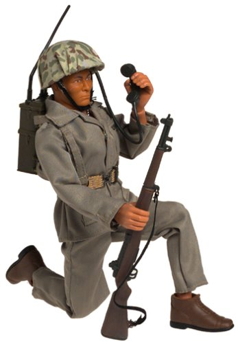 Gi Joe 12 Inch Navajo Indian Navaho Code Talker Figure: Says 7 Different Phrases! In Najavo Code and English!