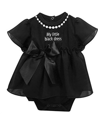 Stephan Baby Little Black Dress Collection Ruffle-Skirted Diaper Cover, 6-12 - In Mall Pearl Outlet