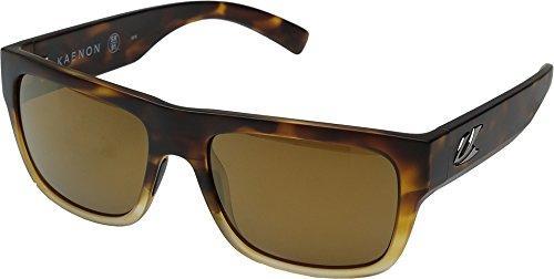(Kaenon Unisex Montecito Matte Tortoise Fade/Brown 12 Polarized Gold Mirror One)