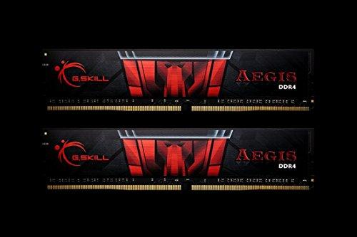 - G.SKILL 32GB (2 x 16GB) Aegis DDR4 PC4- 17000 2133MHZ For Intel Z170 Desktop Memory Model F4-2133C15D-32GIS