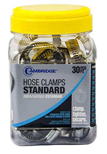 Cambridge Hose Clamp Assortment Jar Kit- 30 - Cambridge Stock