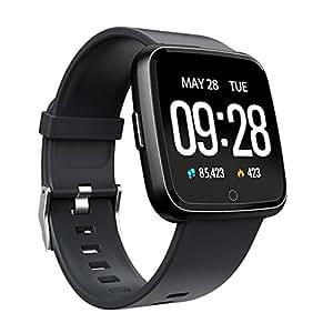 Amazon.com: Semoic Smartwatch Y7 Monitor de presión arterial ...