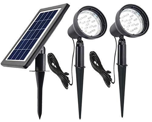 Ntsevsun Solar Spotlights, Power Adjustable, Waterproof Outdoor Solar Landscape Lights for Patio, Garden, Driveway, Pathway, Courtyard, Lawn (White) For Sale
