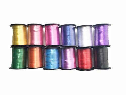 Color Curling Ribbon - GiftExpress Curling Ribbon Balloon String Assortment 720 FT