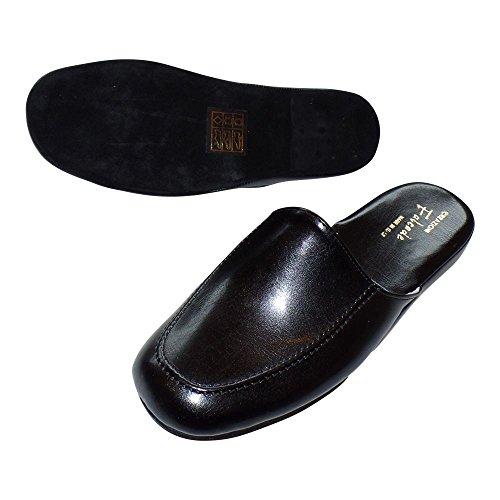 verschiedene Stile abwechslungsreiche neueste Designs bieten eine große Auswahl an Cosy - Leder - Hausschuh/Pantoffel LEDERLAUFSOHLE Herren SCHWARZ EU 40-47 -  Fallen KLEIN AUS !!!