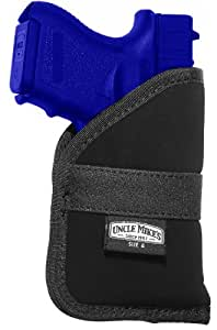 Uncle Mike's Nylon Open-Top Inside-The-Pocket Holster (Size 2, Black)