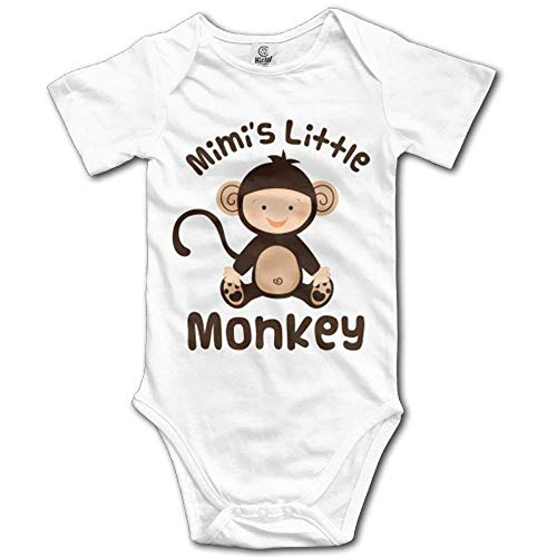 Wishesport FUNINDIY Mimis Little Monkey Cute Baby Bodysuit Baby Boys Onesie Homewear White]()