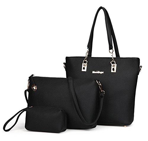 Handle A Womens Zip amp;n Black Sets Handbag qpRtp7