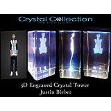 Justin Bieber 3D Engraved Crystal Tower