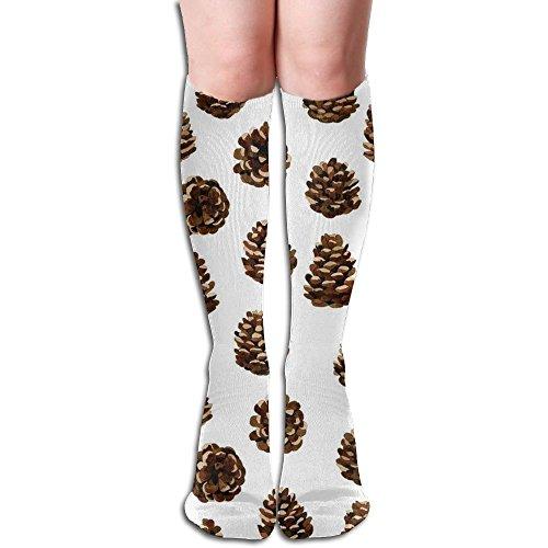 Pinecone Tube (Girls Crazy Pine Cones Knee High Socks Athletic Tube Socks)