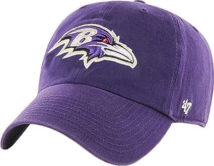 6498cb825d9 Amazon.com   NFL Baltimore Ravens  47 Brand Clean Up Adjustable Hat ...